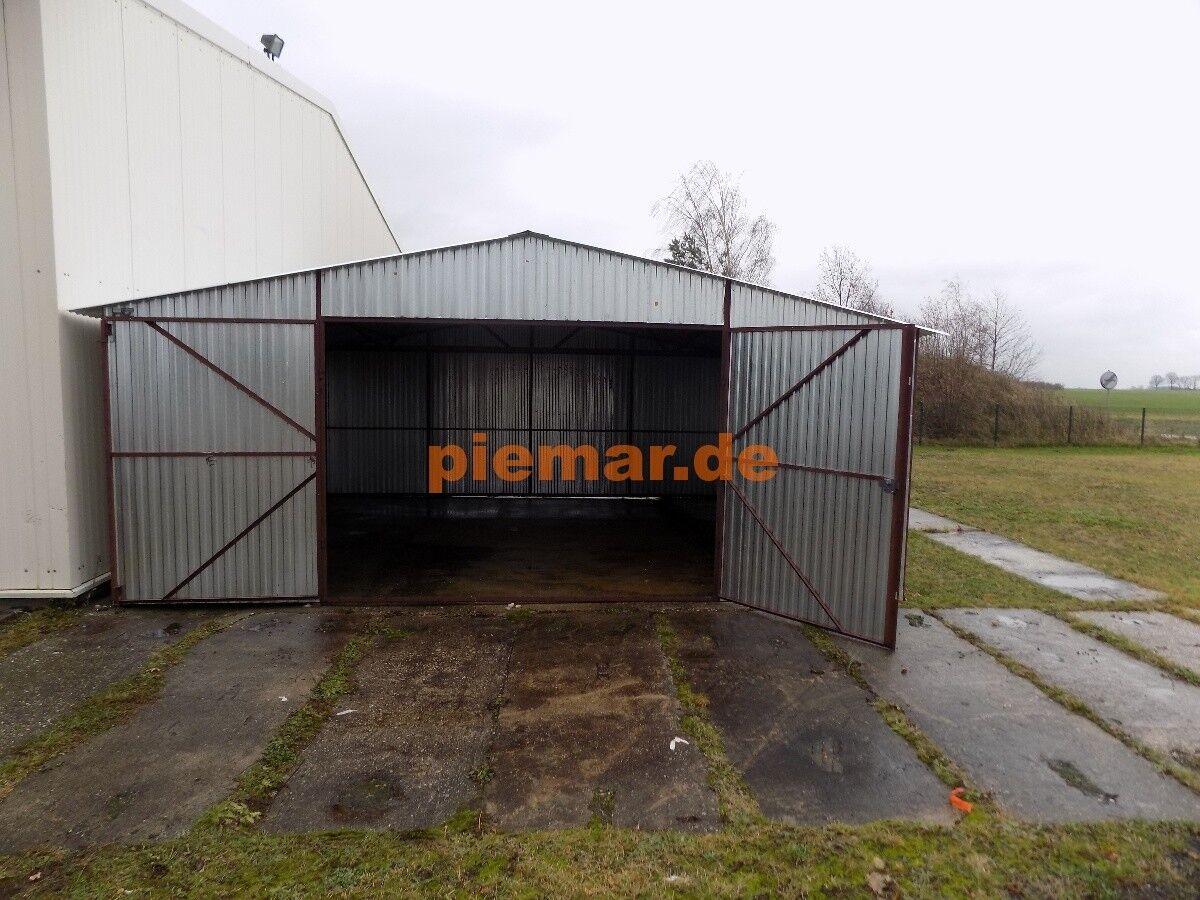 Blechgarage Garage Blechgaragen  Reifen Lager Schuppe Stahlhalle 6x8 Neu