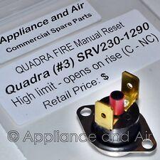 QuadraFire Pellet Stove Limit Switch Manual Reset Snap Disc #3 SRV230-1290 +inst