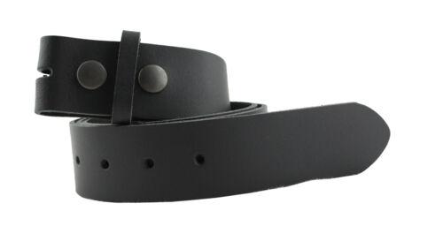 Gürtel Leder Wechselgürtel Basic Schwarz 85cm 130cm