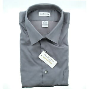 Van-Heusen-Mens-Stretch-Wrinkle-Free-Dress-Shirt-13V021-Charcoal-Grey-XL