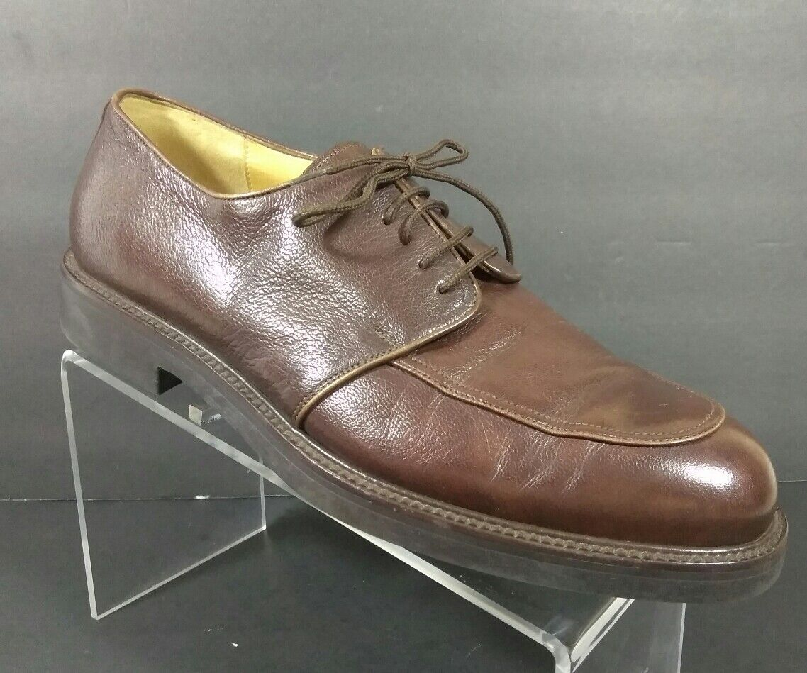 BRUNO MAGLI BROWN LEATHER LACE UP TIE OXFORD DRESS SHOES MEN'S SIZE 10 M