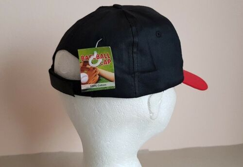 Baseball Cotton 50 Caps Black Red 100 Peak With yCwYq8Fw