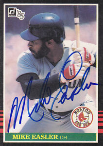 1985-Donruss-Signed-213-Mike-Easler-Red-Sox-Autograph-JSA-DH