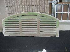 "LARGE vintage ANTIQUE arched WOODEN gable end SHUTTER vent GREEN 66"" x 28"" x 1.5"
