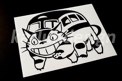 PAIR OF BLUE CATBUS Nekobus MY NEIGHBOR TOTORO Vinyl Decal Sticker manga anime