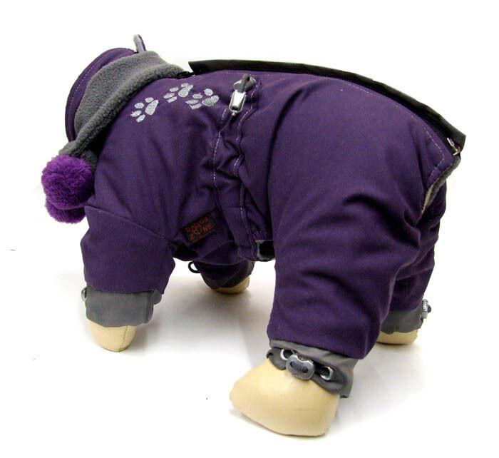 Wintermantel für Hunde mit Schal Schal Schal lila PAWS  ,Mantel für Hunde Weibchen     Genialität  a576d2