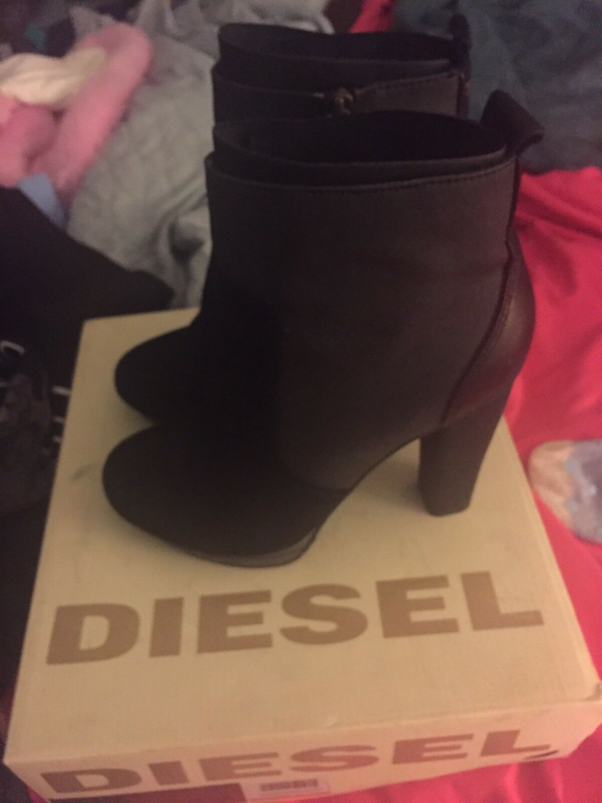 Diesel Collins Hi-travis Ankle Boot Heels ASO Lily Collins Diesel d67d4b