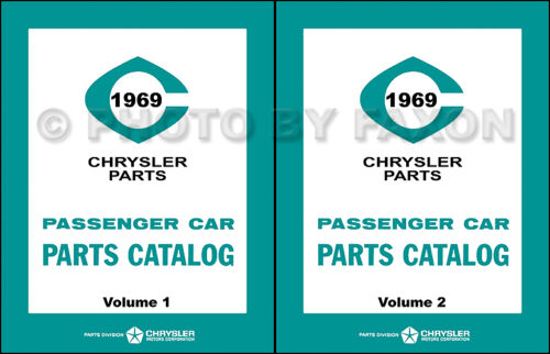 1969 Chrysler Plymouth and Dodge Master Parts Book Illustrated Catalog 69 MoPar
