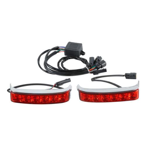 Saddlebag LED Run Brake Turn Light Red Len Fit For Harley Road Glide 2014-2020