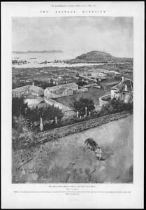 1898-Antique-Print-CHINA-CRISIS-Yantai-Town-Harbour-Treaty-Port-Chefoo-78