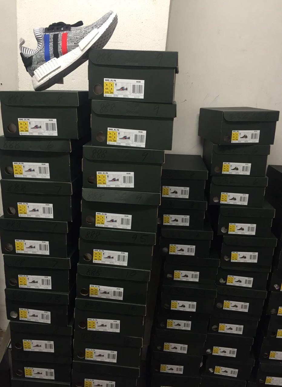 Adidas NMD_R1 Packung dreifarbig grau Herren Turnschuhe Limitierte Auflage