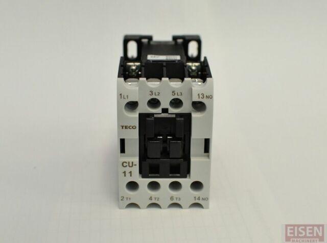 1PCS New TECO AC Contactor CU-11 3A1a 24VAC