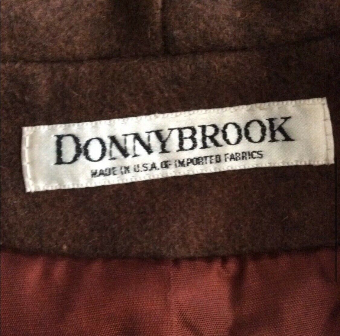 Donnybrook Wool with Leather Fringe Brown Coat Re… - image 5