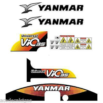 Yanmar VIO35-5 Decals Stickers Kit Set Mini Excavator
