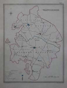 Stratford England Map.Original 1835 County Map Warwickshire England Stratford On Avon