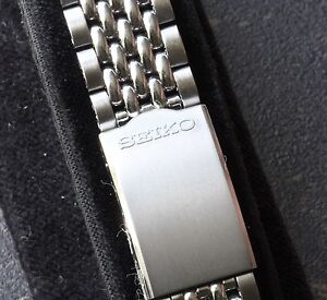 NOS-vintage-Seiko-watch-19mm-Beads-of-Rice-bracelet-fits-World-Time-6217-7000