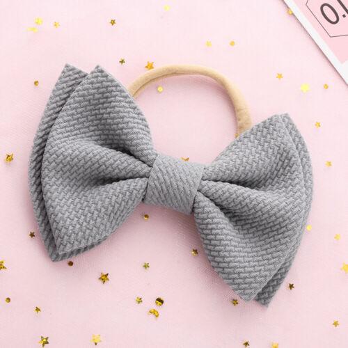 Head Wraps Hair Accessories Knotted Big Bow Headband Nylon Hairband Girls Baby