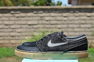 NIKE SB ZOOM STEFAN JANOSKI PR SE SZ 8 BLACK GREY LIGHT BROWN 631298 020