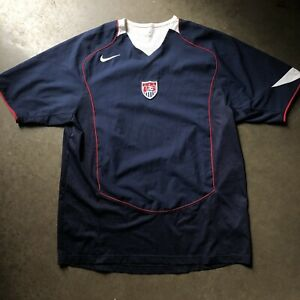 newest 3cb2e b23b1 Details about Men's Vintage Nike Team USA USMNT World Cup Olympic Soccer  Navy Blue Jersey Sz L