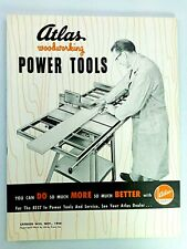 Atlas Wood Working Power Tools Catalog W55 Nov 1954 Machines Michigan