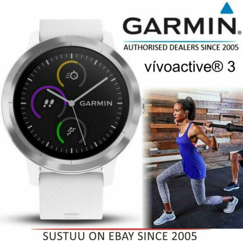 Garmin Vivoactive 3 GPS Running HRM Sports Smartwatch│Heart Rate│Bluetooth│White