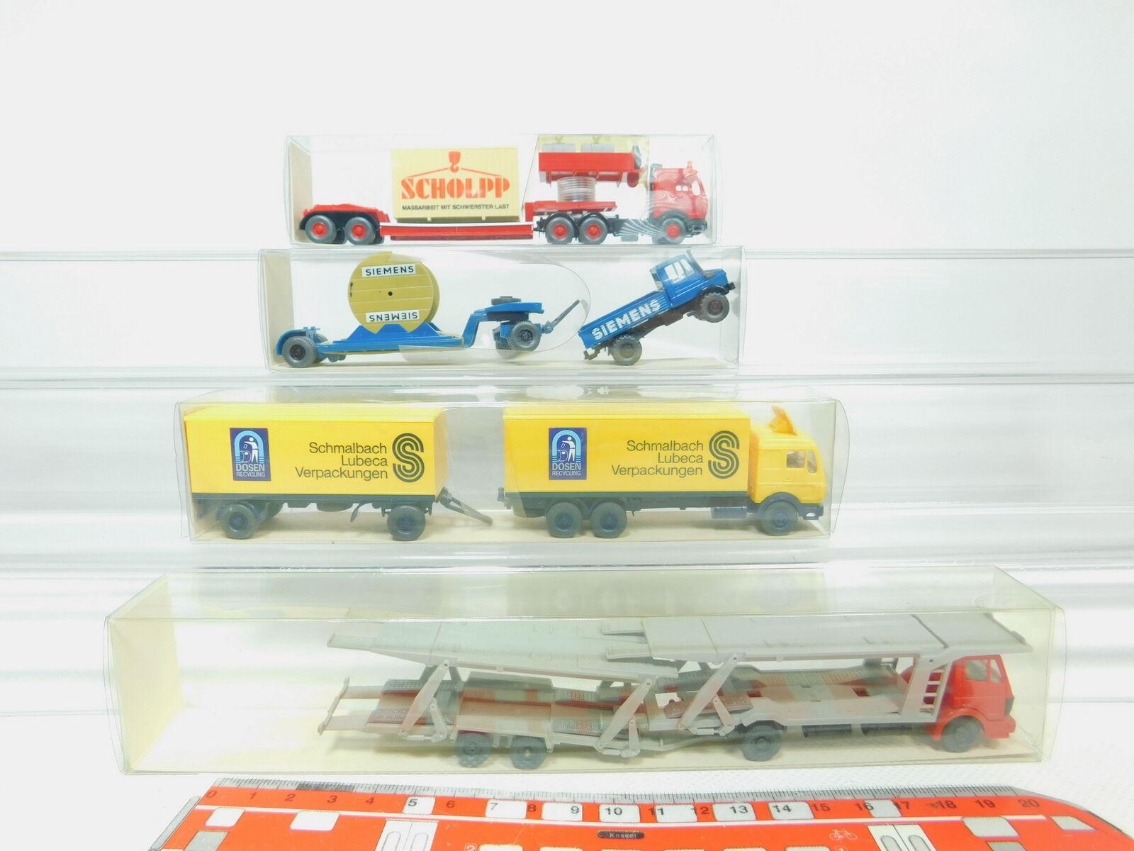 calidad fantástica Bn39-0, 5    4x Wiking h0 1 87 camión MB  457 + 580 + 502 1 Siemens + 504, Neuw + embalaje original  punto de venta