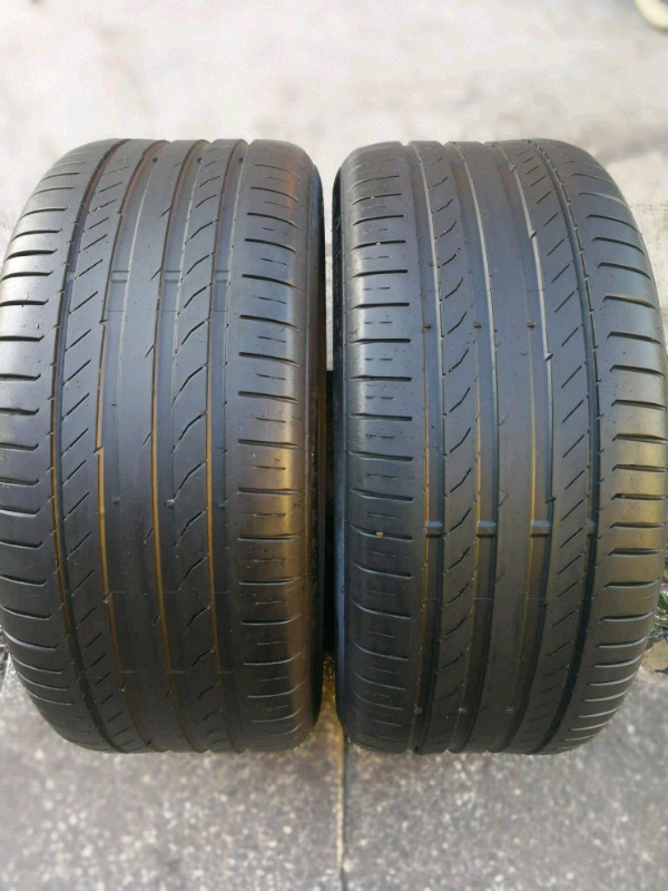 2 X 245/40/18 continental SSR tyres for Mercedes