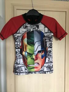 Boys Sunprotection Swim Top Avengers Age 3/4 Yrs By Marvel