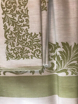 TTT16 Antique 1930/'s Real Damask Table Cloth /& 6 Napkins #4203 Made in Japan