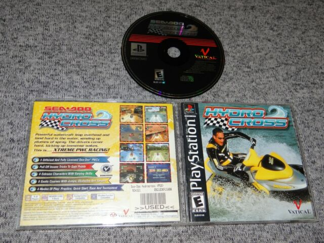Sea-Doo Hydrocross - Sony PS1 Playstation 1 TESTED/COMPLETE Wave Runner/Jet-Ski
