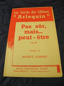 Partitura-Pas-seguro-mais-Peut-ser-Vals-Maurice-Guinard-1950-vals