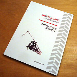 new holland 451 456 mower operator s owners book guide manual nh ebay rh ebay com new holland 451 operator's manual pdf new holland 451 operator's manual