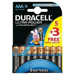 8-x-Duracell-Duralock-MX2400-LR03-Ultra-Power-AAA-Alkaline-Batteries-MN2400