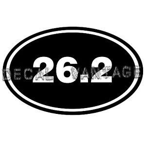26-2-Vinyl-Sticker-Decal-Euro-Oval-Run-Marathon-Race-Choose-Size-amp-Color
