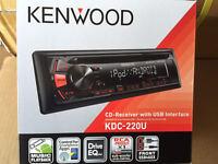 Kenwood Kdc-220u Kdc-210u Car Stereo Head Unit Usb + 3.5mm Aux 1 Din Cd Play