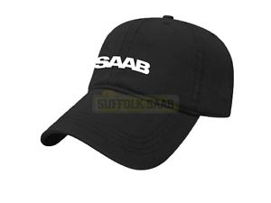 SAAB-GENUINE-6-PANEL-BASEBALL-CAP-HAT-BLACK-BRAND-NEW-RARE-SUFFOLK-GIFT-PRESENT