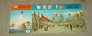 1964-1965 NY WORLD'S FAIR 20 Color Postcard Booklet - Complete - Unposted