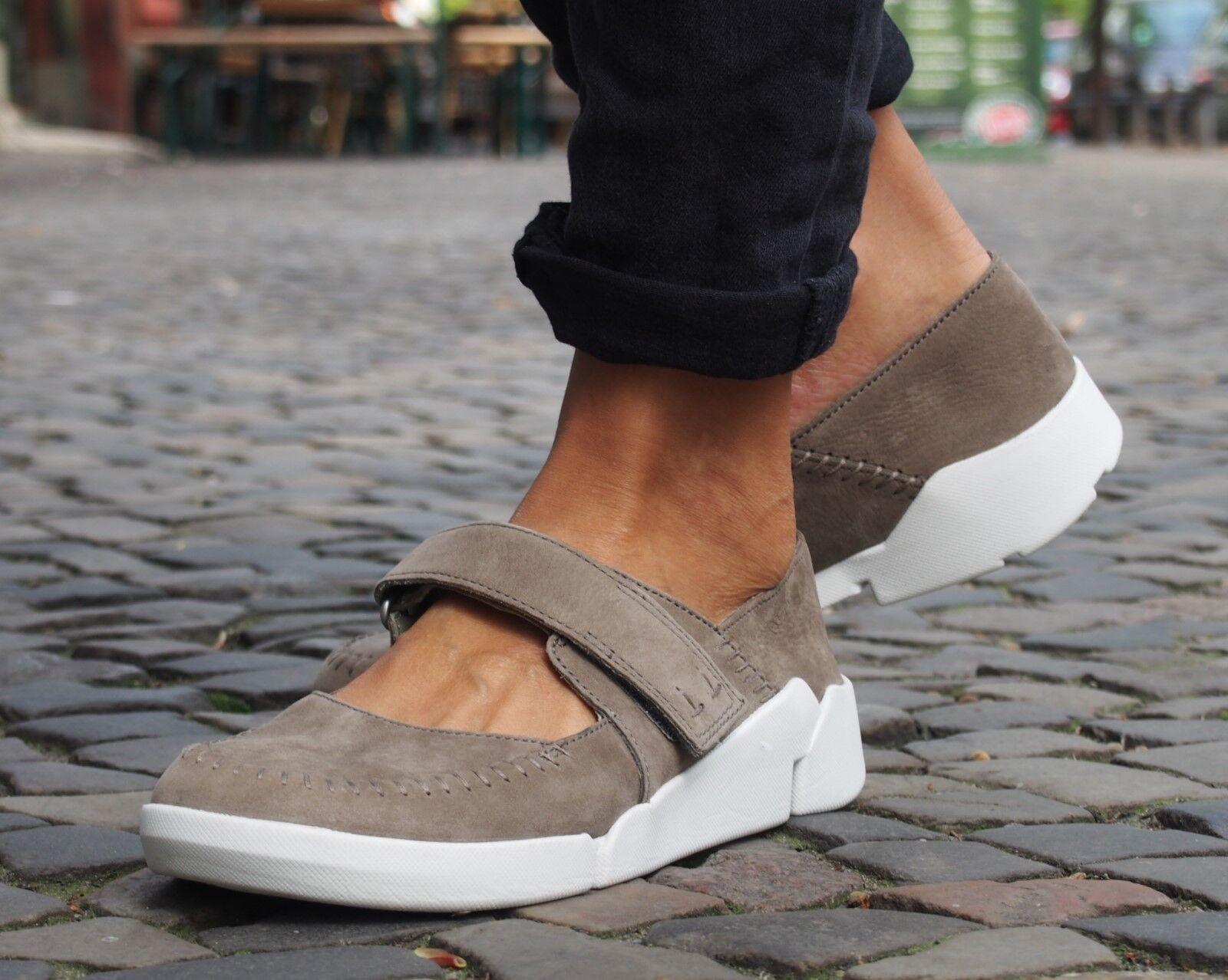Clarks Schuhe Originals TRI AMANDA sage grau Echtleder Halbschuh NEU Ballerienas