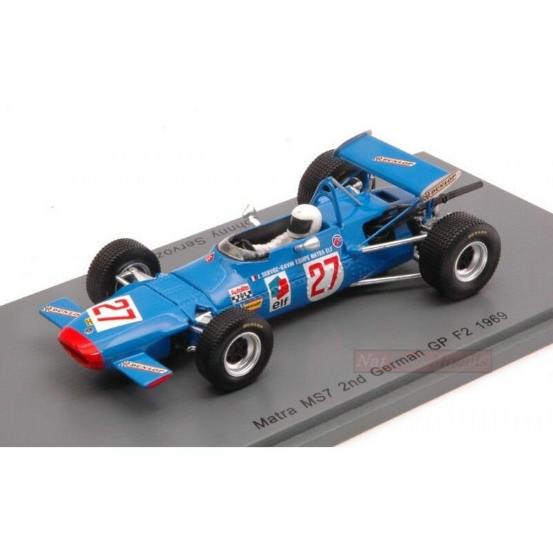 SPARK MODEL S4291 MATRA MS7 J.SERVOZ-GAVIN 1969 N.27 F2 ALLEMAND GP 1 43