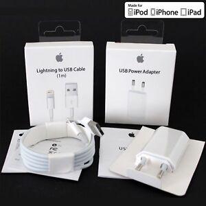 neu original apple iphone 5 5s 5c se 6 6s 7 8 plus netzteil ladekabel ladeger t ebay. Black Bedroom Furniture Sets. Home Design Ideas