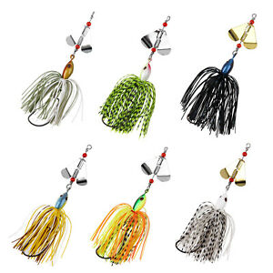 Fishing Lure Spinnerbait Bass Pike Trout Salmon Jig Spinner Baits Skirt Lure