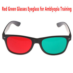 1Pcs-Red-Green-Glasses-Eyeglass-Amblyopia-Training-Protection-Goggles-Glasses-rd