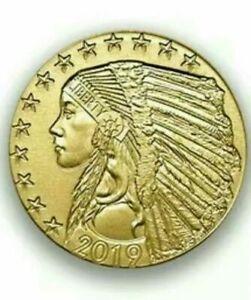 5-Indian-Head-1-10-oz-Gold-Proof-Coin-Random-Year-Deep-Mirrors