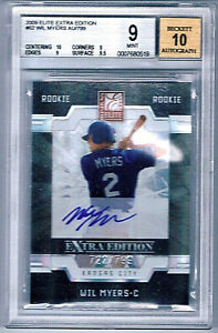 Wil-Myers-2009-Elite-Xtra-Edition-Auto-Signed-722-799-Beckett-BGS-9-10-Rookie-RC
