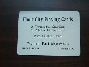 Vtg-Flour-City-Playing-Cards-Business-Card-Wyman-Partridge-amp-Co-Minneapolis-MN