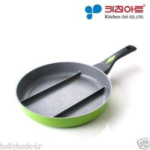 Triple Divided Share Frying Pan Aluminum Magic Stone