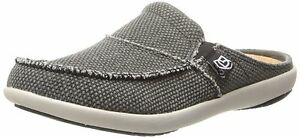 Spenco-Womens-Siesta-Canvas-Orthotic-Slides-Charcoal-Grey