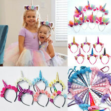 2pcs//Set Magical Unicorn Horn Head Party Kids Headband Cosplay Party Prop