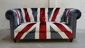 UNION-JACK-FLAG-CHESTERFIELD-TUFTED-2-SEATER-PATCHWORK-VELVET-SOFA