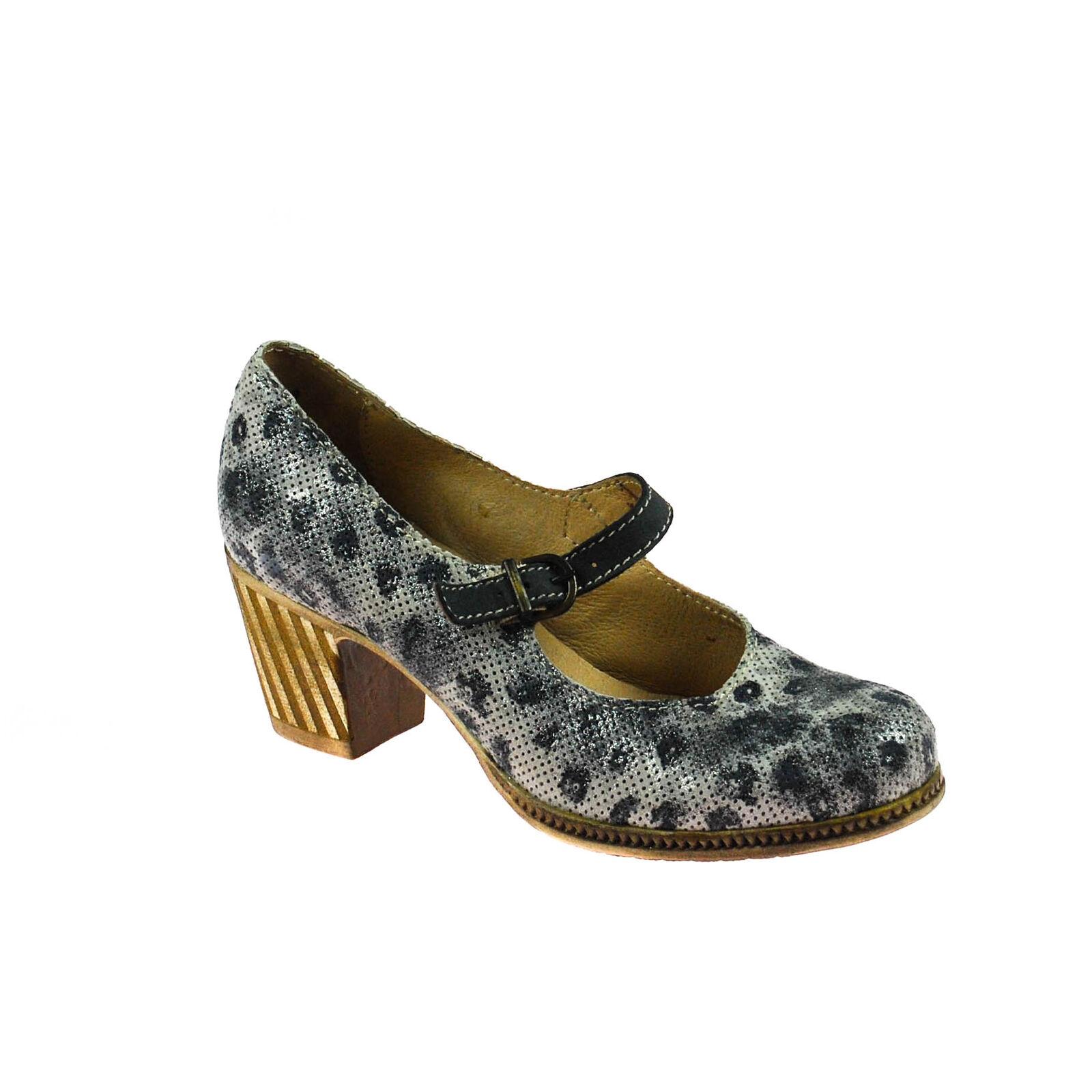 Charme femmes chaussure ouverte cuir gris argenté gris foncé Taille 37